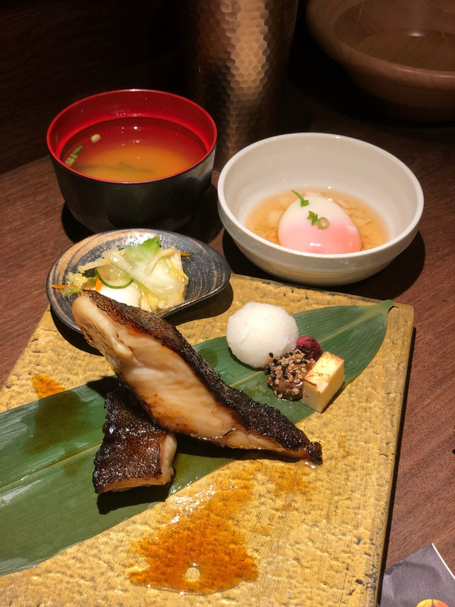 Miso Marinated Black Cod Set