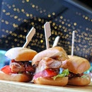 Teriyaki chicken with the crispy man tou adds a whole new sensory experience to this slider.
