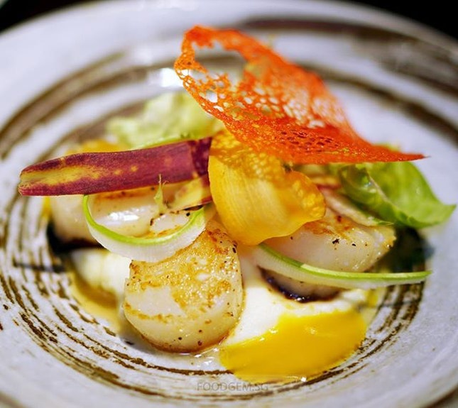 One of the top picks would be Pan-Seared Scallops with pomelos salad and mashed potato.