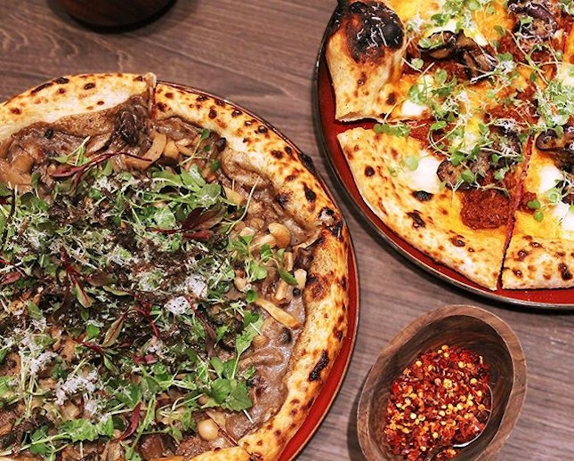 We tried three different signature pizzas and unanimously, our favourite was the Mushrooms, Truffle, Mascarpone and Tuscan Pecorino.
