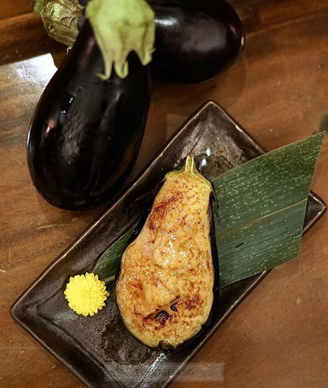 Unlike the standard eggplant, this Japanese eggplant inner flesh is plump in size, creamy white with a few, edible seeds and has a sweet flesh that we love.