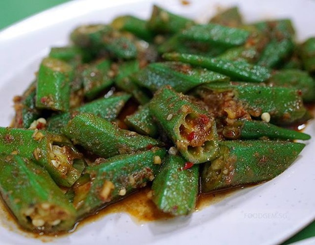 The sambal belacan adds depth to the taste of this simple lady finger but scrumptious dish.
