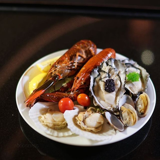 Friday is gonna be our cheat day with a seafood buffet spread.