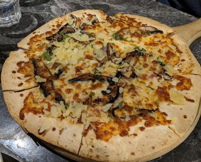 Truffle Portobello Mushroom Pizza [$24]