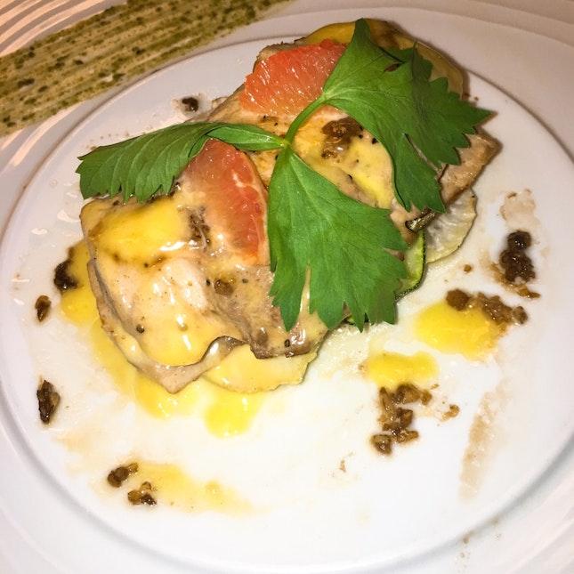 Fish Steak With Yellow Sauce