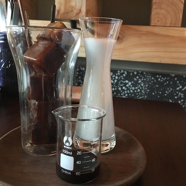 Caramel Chocolate Coffee Cubes Latte