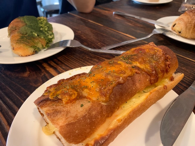 4- Cheese Bread With Matcha Croissant 🥐