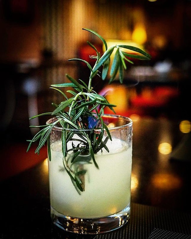 <Rosemary Gin Cooler $10> #greatprice Didn't manage to capture the flame!