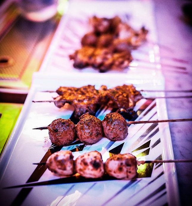 #tbt my Yakitori night with #friends:) Our skewers were dusted with yummy Szechuan spices 🤘🏻 Love love because....