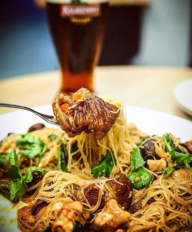 #tbt Canned Pork Trotters Bee Hoon from at 27 Yong Siak Street.