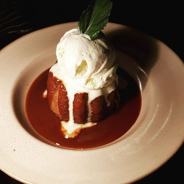My all time favourite dessert - sticky date pudding with vanilla ice cream!