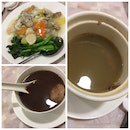 Seafood Horfun + Soup Of The Day + Red Bean With Glutinous Rice