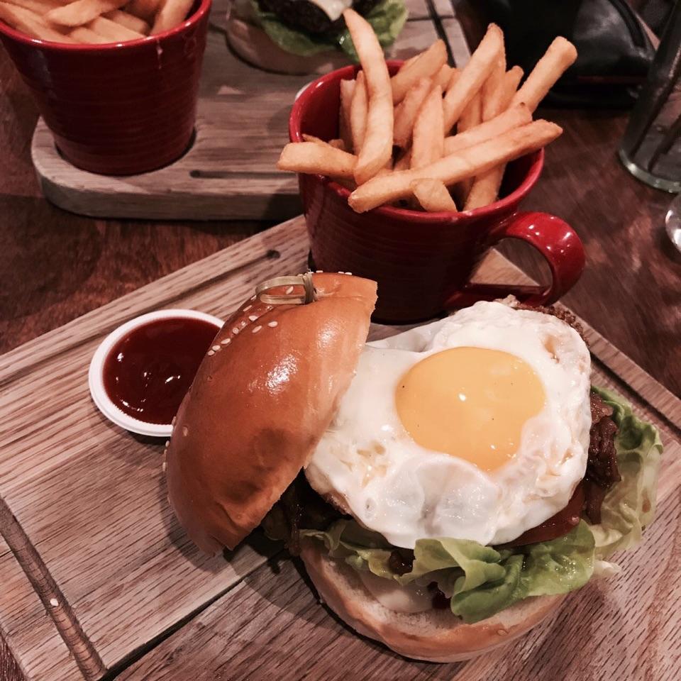 Pork Yakiniku Burger @ GRUB