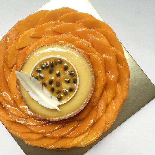 "Best Birthday ""Cake"" Ever 💛: Mango Tart (Regular, $38) + Passion Fruit Tart (Small, $9)"