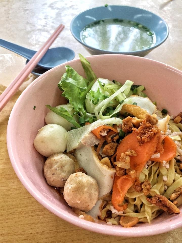 Teochew Fishball Noodle ($3/4)