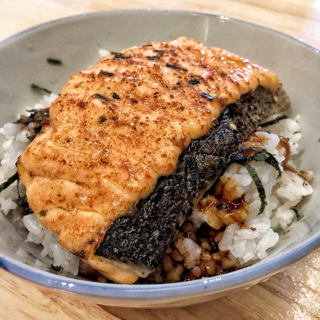 Salmon Mentaiyaki Donburi ($10)