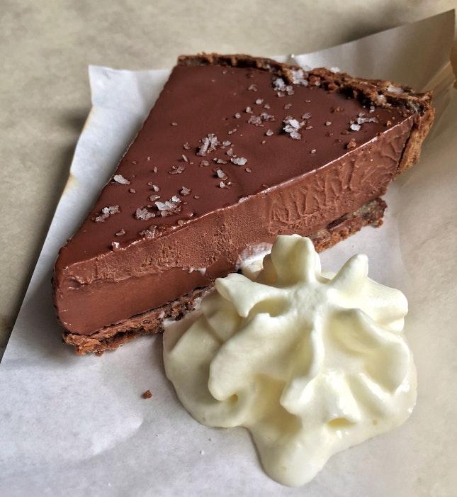 Chocolate Tart w/ Cream ($8)