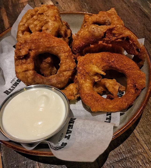 Bhaji Onion Rings ($7)