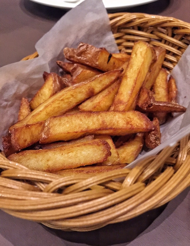 French Fries with Truffle Oil ($8   Tapas Menu)