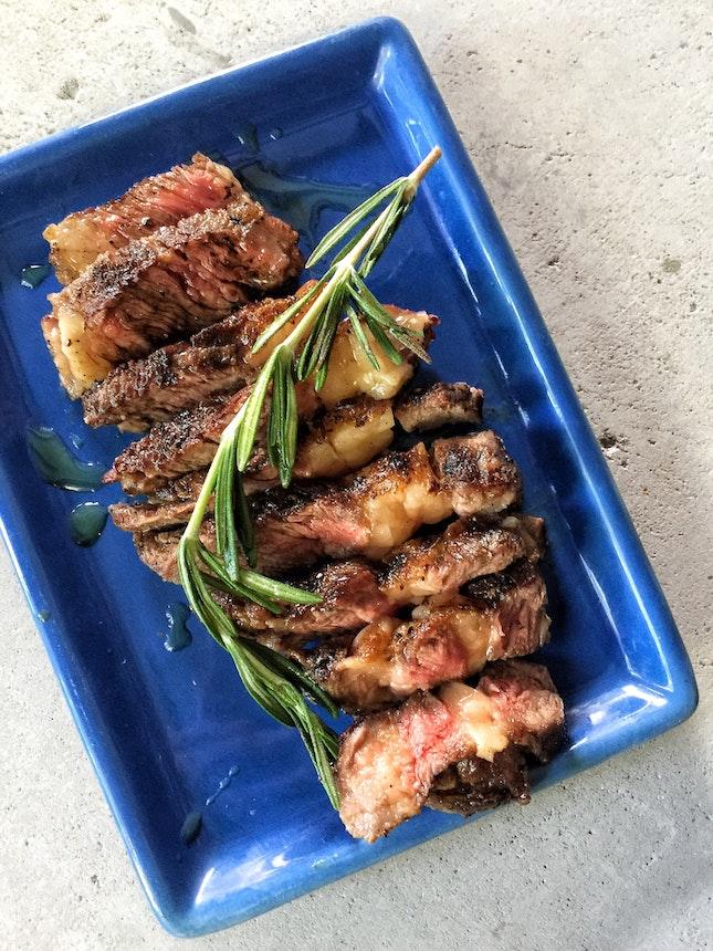 Rib-eye Steak ($13)