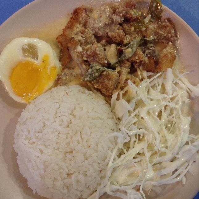 Salted Egg Pork Rice