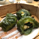 Spinach Dumplings with Shrimp