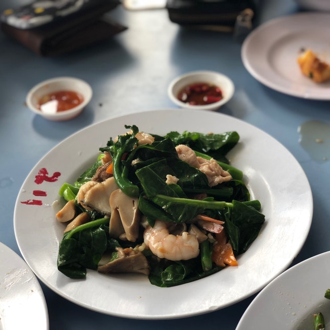 Vegetables with Seafood