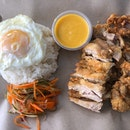 Salted Egg Chicken Rice