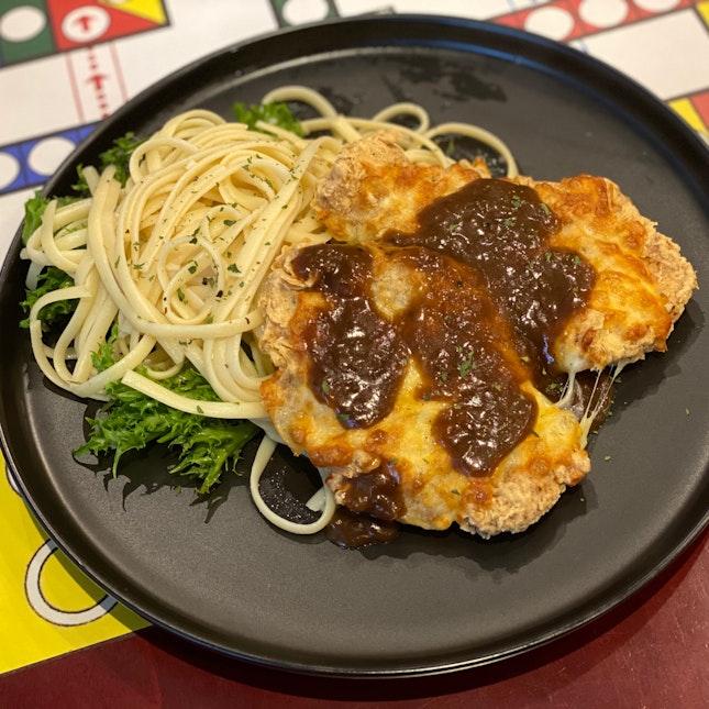 Mozzarella Pork Cutlet