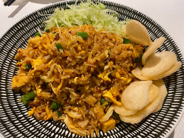 Sambal Fried Rice with Crab Meat