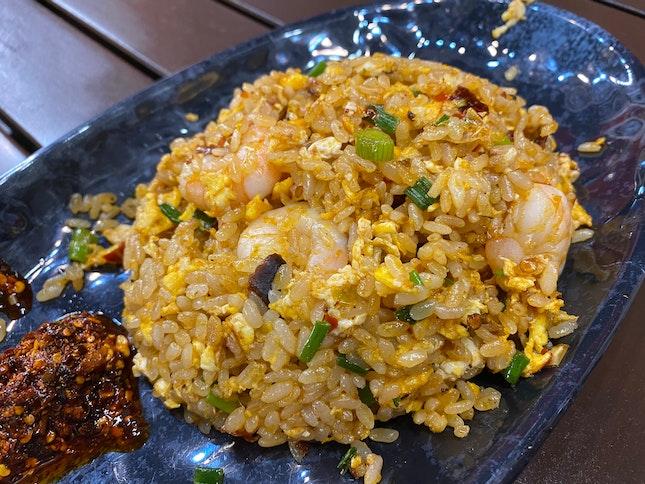 Mala Fried Rice with Shrimp
