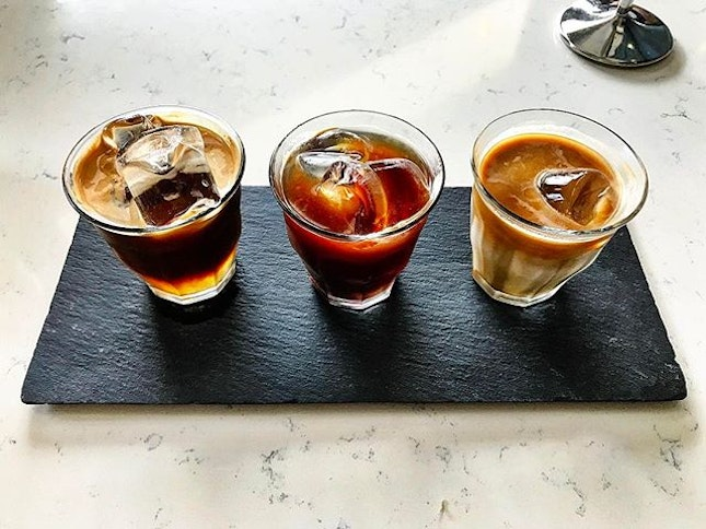 Atlas CoffeeHouse - Brewed Coffee: Black Bird (💵S$8.50) Taste Flight of Cold Brew, Nitro Brew & Iced Black.