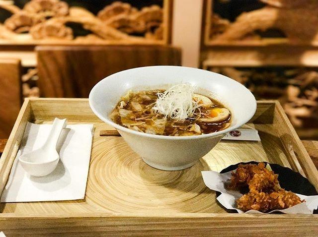Jimoto Ya - Ebi Shoyu Ramen エビ醤油ラーメン (A-la Carte 💵S$16.50, Ramen Set 💵S$19.50) Signature Japanese Sweet Prawn & Pork Bone Broth Ramen with Soya Sauce Seasoning.