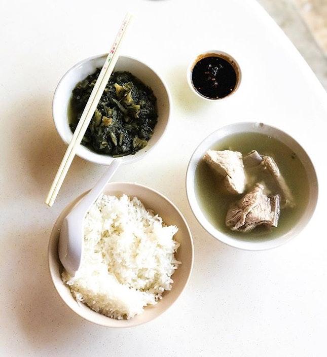 Joo Siah Bak Koot Teh - Spare Ribs Soup/Bak Kor Teh (💵S$7.50) & Preserved Vegetables (💵S$2) 🍲 • ACAMASEATS & TIPS💮: The Bak Koot Teh soup here is peppery, pungent peppery aroma.