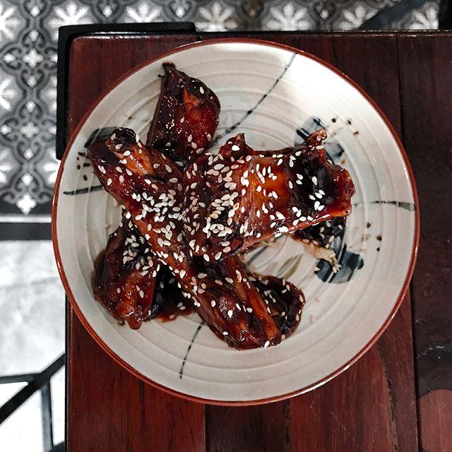 Five Ten - Food - Pork Ribs (💵S$10)  Sous-vice Pork Ribs, Hoisin Glaze, sesame-seeds & pickled cabbage.