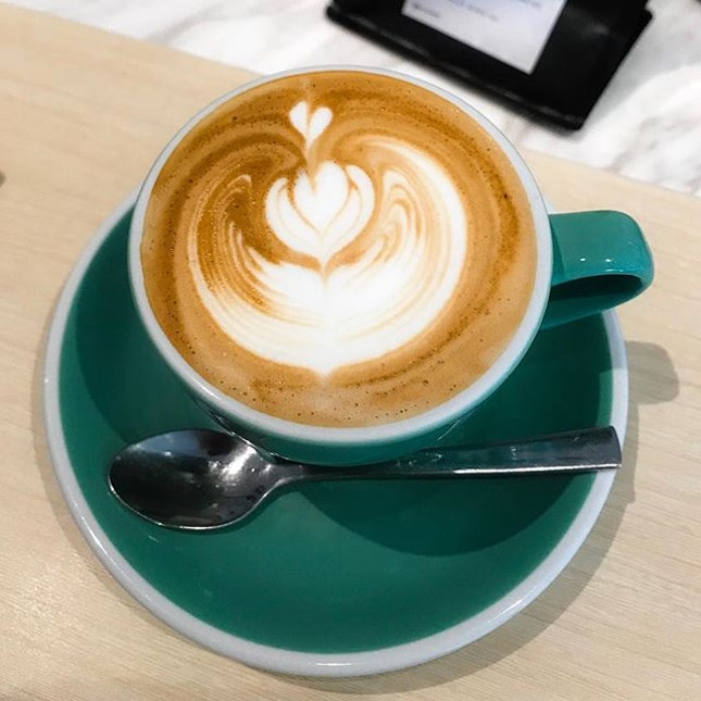 Stamping Ground Coffee @stampinggroundcoffee - Magic (💵S$5) Double ristretto served in a smaller cup that has the perfect Magic coffee to to milk ratio.