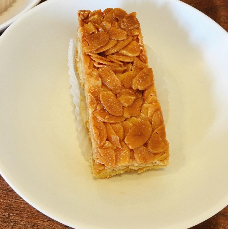 Almond Florentine Cookie Bar