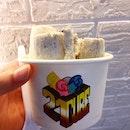 Rolled Ice Cream: Vanilla, Banana & Oreo !