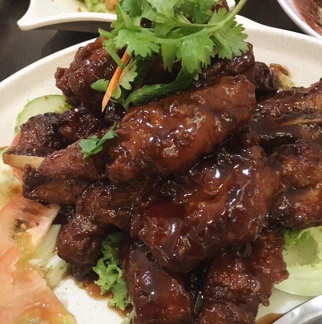 Blackcurrant Fried Pork Ribs ($20)