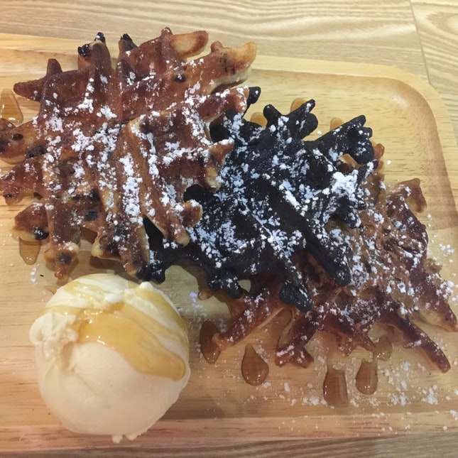3-of-a-kind Snowflake Waffles