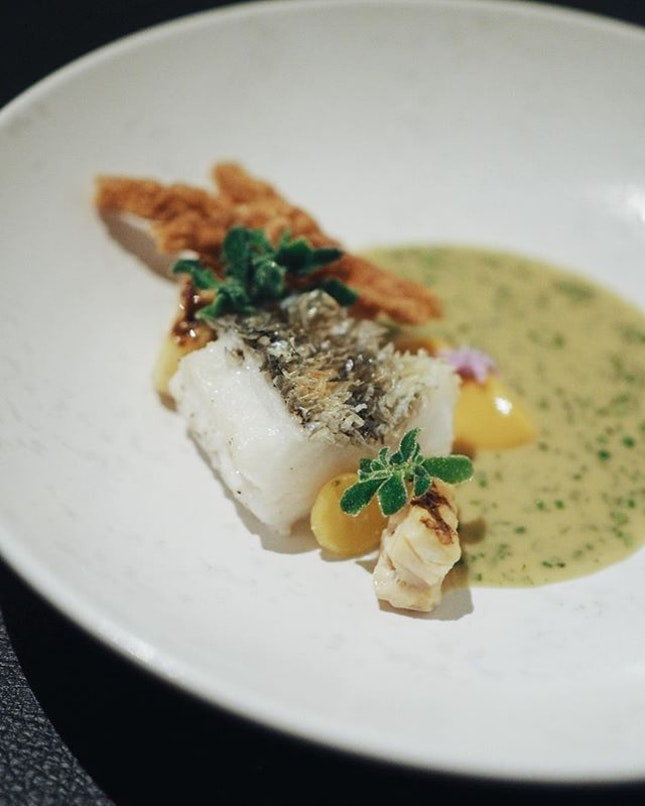 "New Zealand blue cod ""crispy scales"" @cornerhousesg • • • • • •  #sgfood #sgfoodies #burpple #instafood_sg #sgcafe #sgig #igsg #exploresingapore  #bonappetit #vscoedit #agameoftones #thecreatorclass #createcommune  #foodvsco #f52grams #eeeeeats #huffposttaste #onthetable #buzzfeast #forkyeah  #tastethisnext #eattheworld #foodandwine  #feedyoursoull #eatfamous #tastingtable #bestfoodworld #beautifulcuisines #dailyfoodfeed"