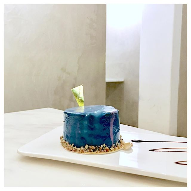 Galaxy Cake 🌌 Chocolate mousse cake with galaxy icing.