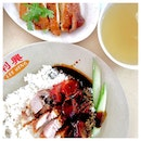 Pork Roasted Char Siew Rice 🐷🍚 Enjoying this local delight which always brings happiness to my forever-hungry self!
