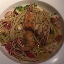 Spaghetti Alio Olio Prawn