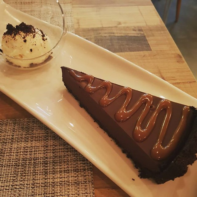 This chocolate tart from newly opened La Bonne Table at Katong is da bomb!