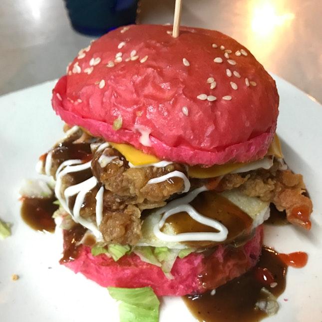 Ayam Goreng Burger With Egg