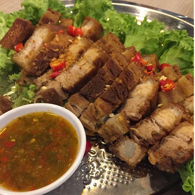 Crispy Golden Thai Pork Belly