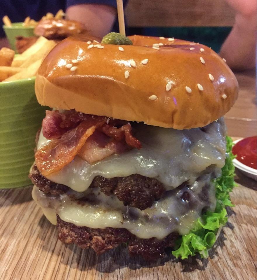 GRUB Double Cheeseburger $19++