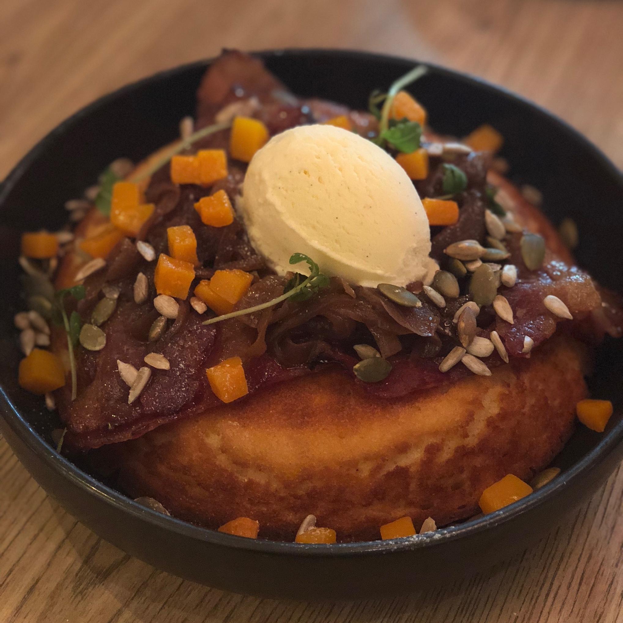 Bacon Ricotta Hotcake ($15.90)