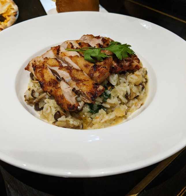Grilled Chicken & Mushroom Risotto ($25++)